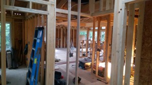 interior framing- entry to kitchen